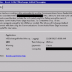 Exchange 2010 UM cannot find Lync 2013 Edge pool